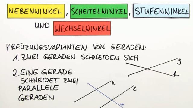 Winkelpaare bestimmen - einfach erklärt mit Videos und Übungen
