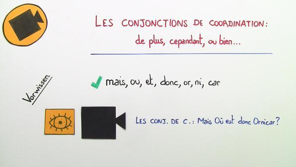Les conjonctions de coordinationde plus  cependant  ou bien