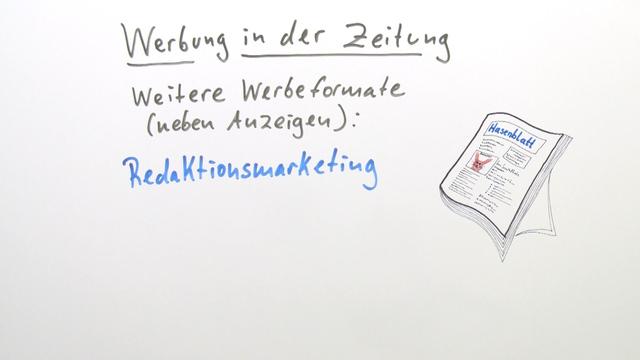 Werbung in der Zeitung