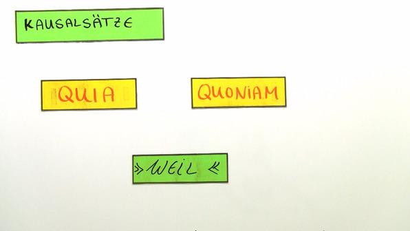 Kausalsätze mit quia und quoniam