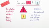 Falsche Freunde: Englisch-Französisch – Faux amis: anglais-français (3)