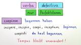 verba defectiva – unvollständige Verben