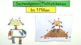 Multiplikation bis 1 Million – Sachaufgaben