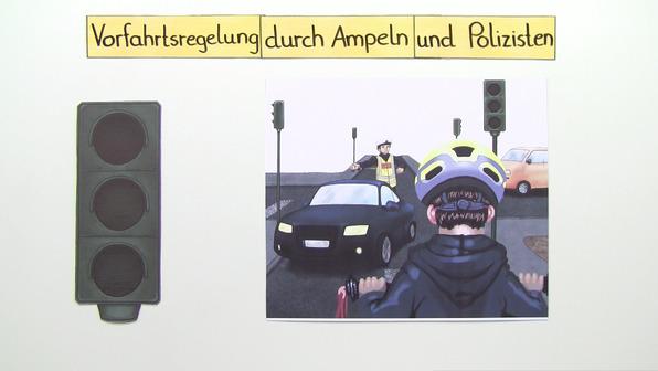 Die Vorfahrtsregelung durch Ampeln und Polizisten