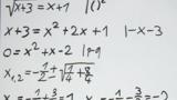 Wurzelgleichungen – Aufgabe (10)