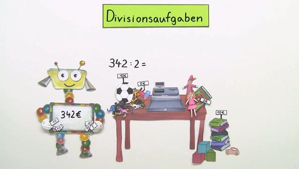Schriftliche Division durch Einerzahlen – Überblick