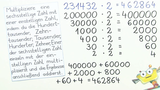 Halbschriftliches Multiplizieren – Übung