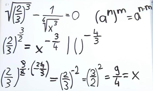 Potenzgleichungen mit rationalen Exponenten – Mathematik online lernen