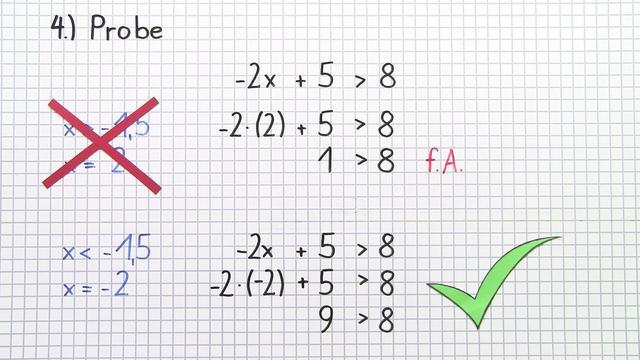 Lösen von linearen Ungleichungen durch Äquivalenzumformungen