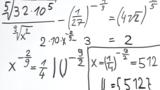Potenzgleichungen mit rationalen Exponenten – Übung (2)