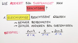 Addition und Subtraktion von Bruchtermen