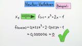 Newton-Verfahren – Beispiel