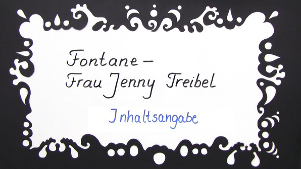 """Frau Jenny Treibel"" – Inhaltsangabe (Fontane)"