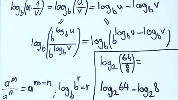 Zweites Logarithmusgesetz