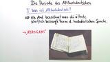 Die Periode des Althochdeutschen