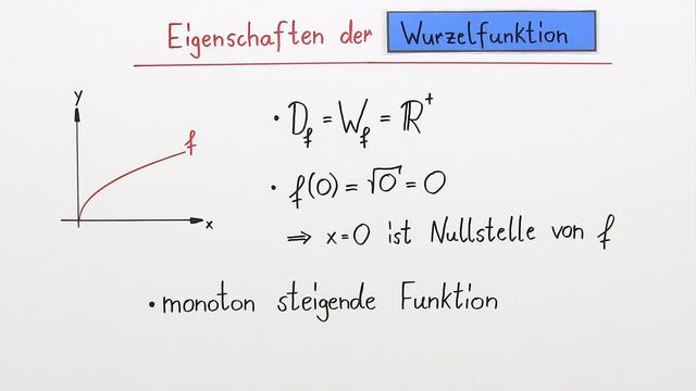 Wurzelfunktion als Umkehrfunktion der quadratischen Funktion ...
