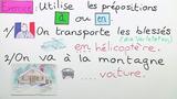 Verkehrsmittel in Frankreich (Übungsvideo)