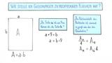 Quadratische Gleichungen zu rechteckigen Flächen aufstellen und lösen (2)