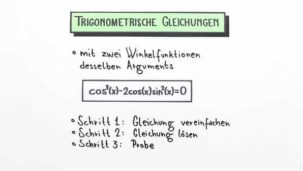 11965 trigonometrische gleichungen mit zwei winkelfunktionen desselben arguments