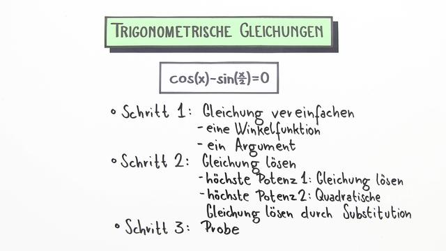 Gleichungen mit Sinus, Cosinus und Tangens mit zwei Winkelfunktionen verschiedener Argumente