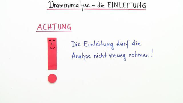 Dramenanalyse schreiben – Die Einleitung