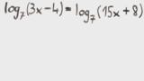 Logarithmusgleichungen lösen – Übung (5)