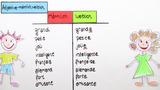 Adjektive – männliche und weibliche Form