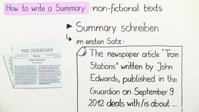 Summary Writing – Wie schreibt man eine Summary?