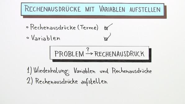 Rechenausdrücke mit Variablen aufstellen