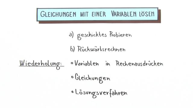 Gleichungen lösen – Einfach erklärt (inkl. Übungen)