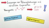 Potenzgleichungen mit rationalen Exponenten lösen