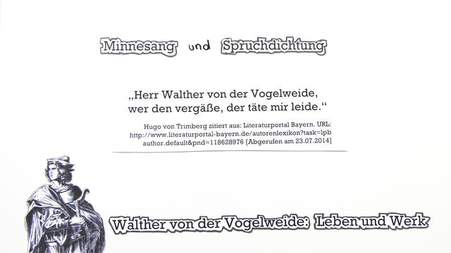 Walther von der Vogelweide – Leben und Werk