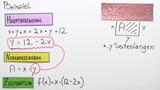 Extremwertaufgaben mit quadratischen Funktionen – Anleitung