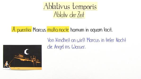 Ablativus temporis – Ablativ der Zeit