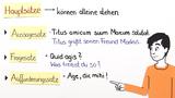 Welche Arten von Sätzen gibt es?