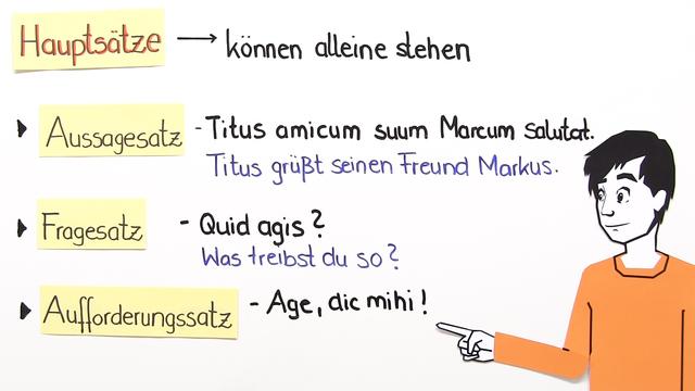 Welche Satzarten gibt es?