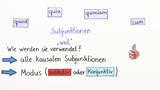 Kausalsätze - Überblick