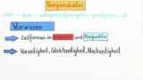 Temporalsätze - Überblick