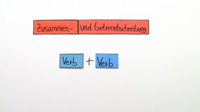 Getrennt- und Zusammenschreibung: Verb + Verb