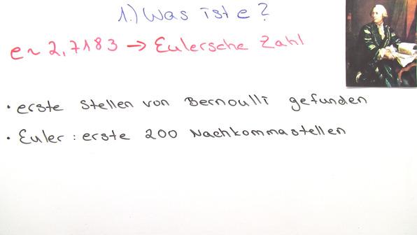 Natürliche Exponentialfunktion f(x)=e^x