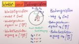 Rotation – Zeit-Bahngrößen-Gesetze
