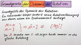 Grundgesetz der Dynamik der Rotation
