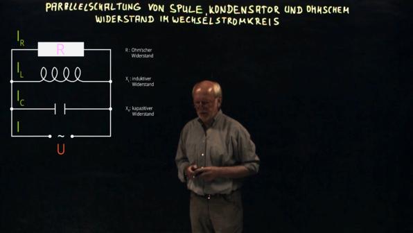Parallelschaltung von Spule, Kondensator und Ohm'schen Widerstand