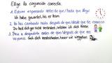 Weitere spanische Konjunktionen - Übungsvideo