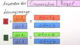 Cramersche Regel – Beweis