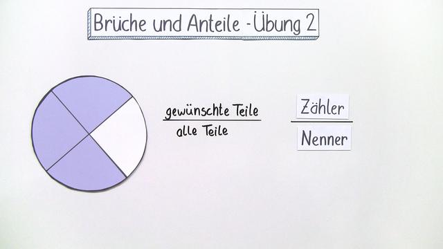 Brüche und Anteile (Übungsvideo 2)