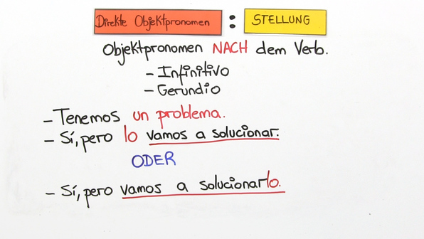 Direkte Objektpronomina