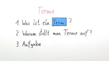 Terme aufstellen und berechnen