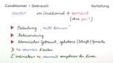Conditionnel Présent – Gebrauch (Vertiefungswissen)