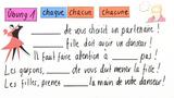 """Wie verwende ich """"chaque"""" und """"chacun""""? (Übungsvideo)"""
